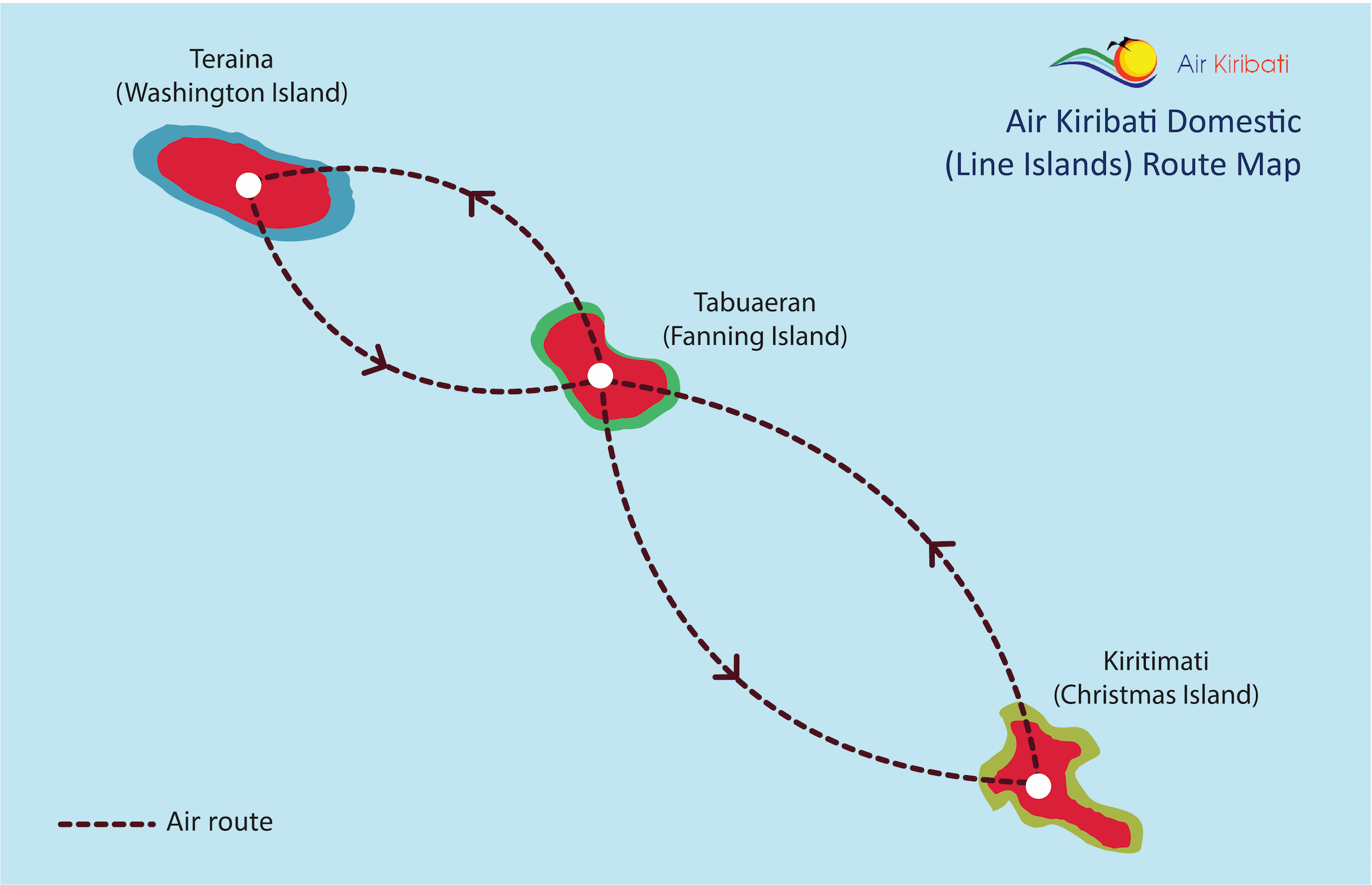 Line Island Route Map