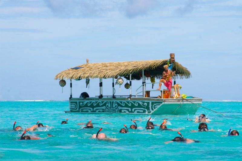Lagoon Cruise - a popular thing to do in Rarotonga